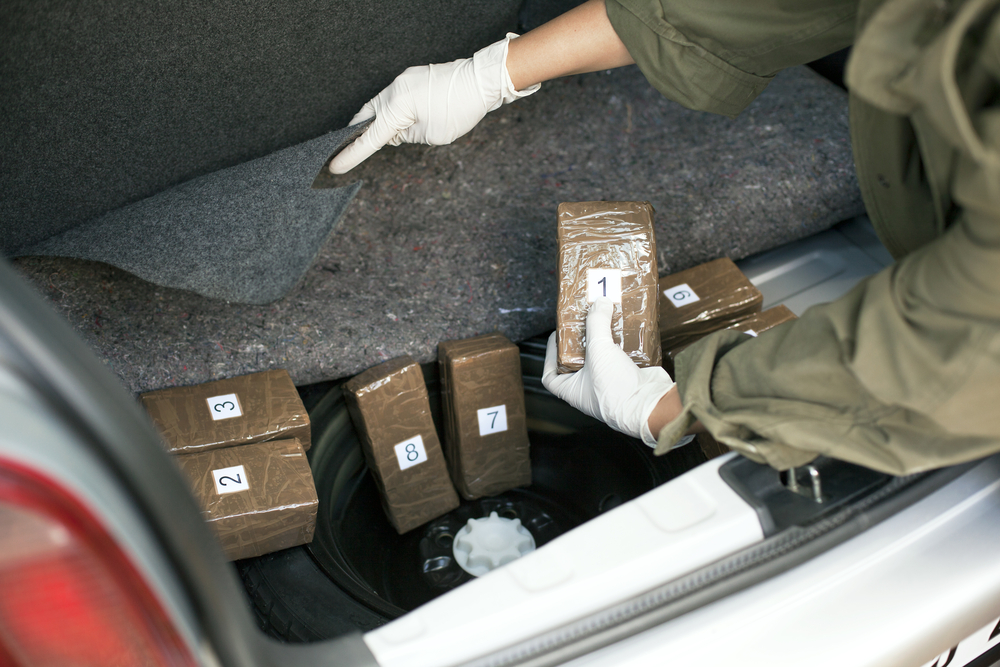 cocaine being smuggled under car seat