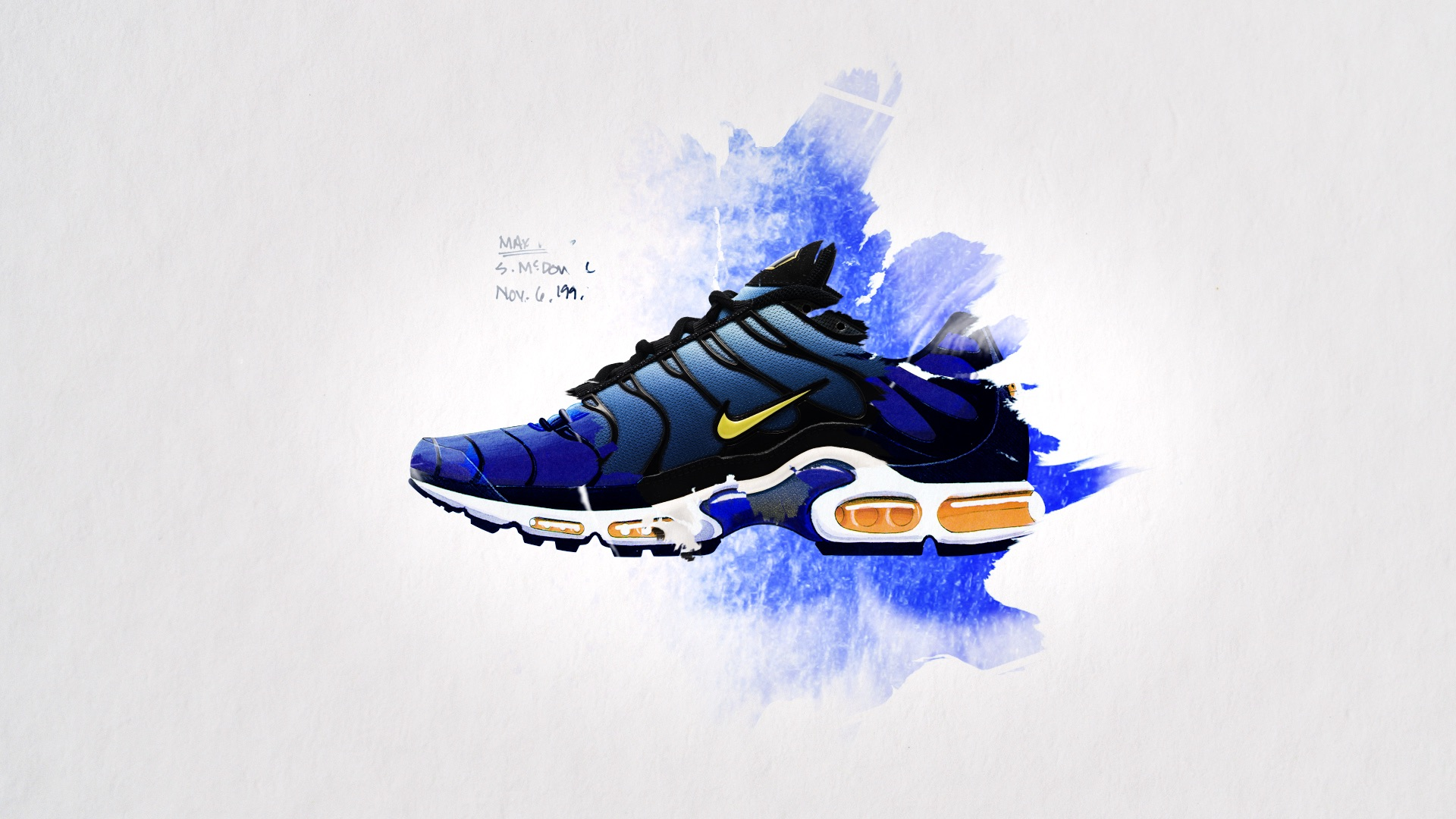 timeless design dd65a ad48c ... Nike Tn Air. The organic motion design is a translation to, firstly,  the blending colours of the shoes aesthetic - inspired by gradients found  in ...