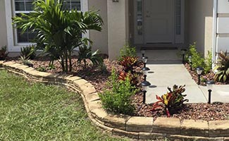 landscape rock installation service in Cape Coral and Fort Myers Florida