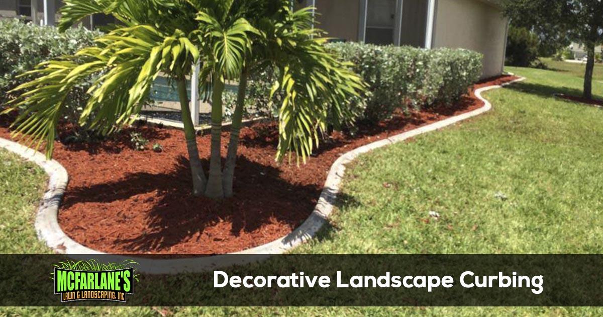 Decorative Concrete Landscape Edging - Decorative Concrete Landscape Edging And Curbing