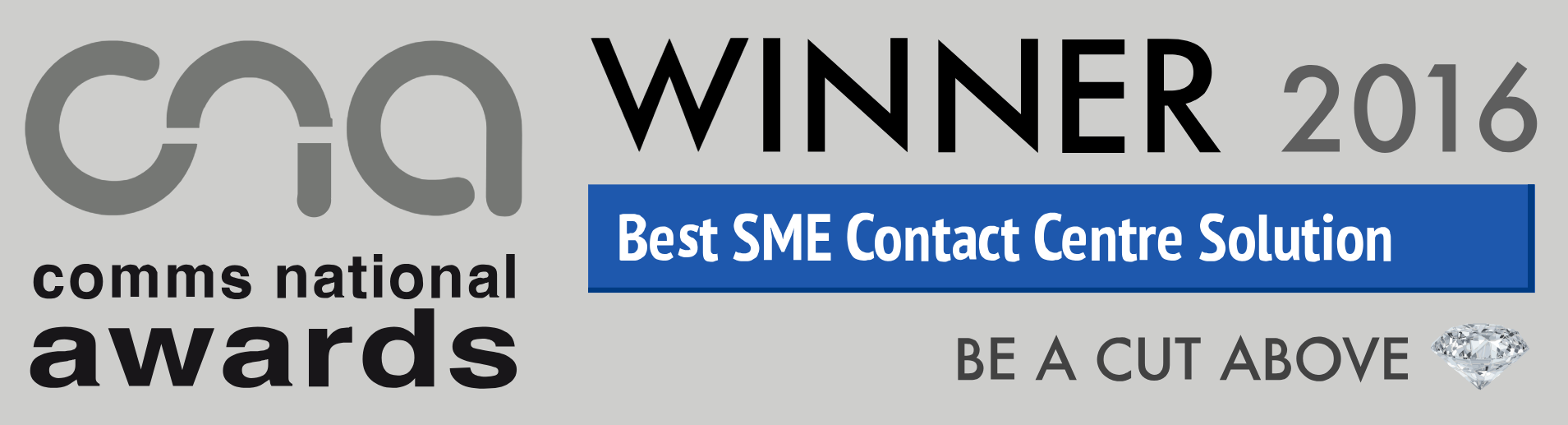 Best SME Contact Centre Solution (Comms National Awards, 2016)