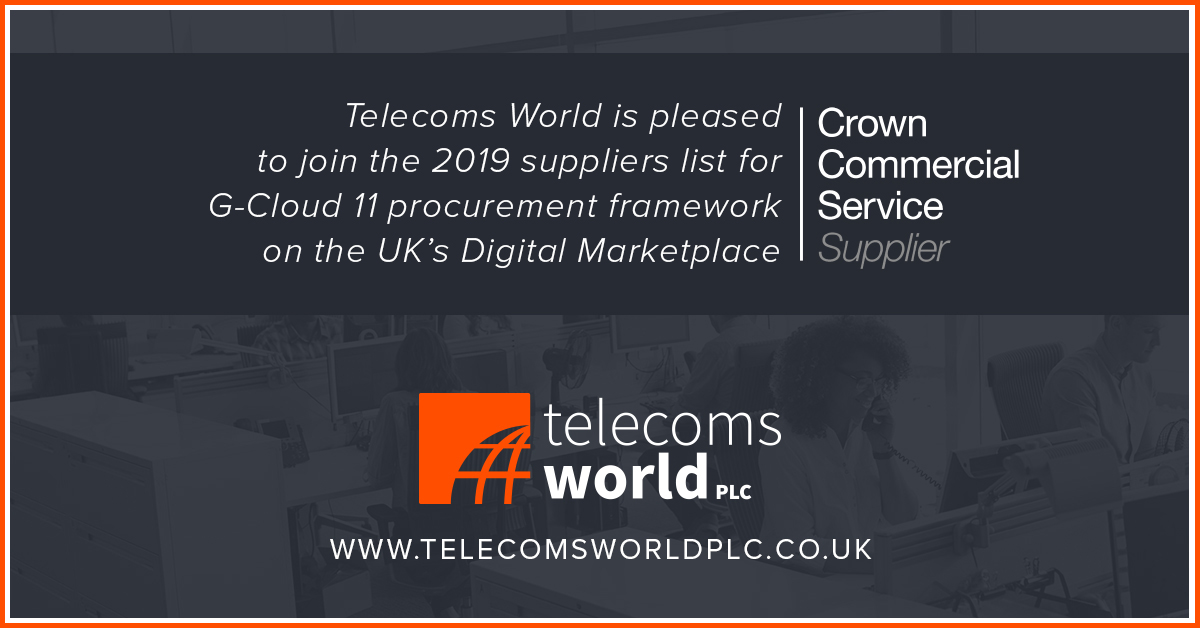Telecoms World join the 2019 suppliers list for CCS