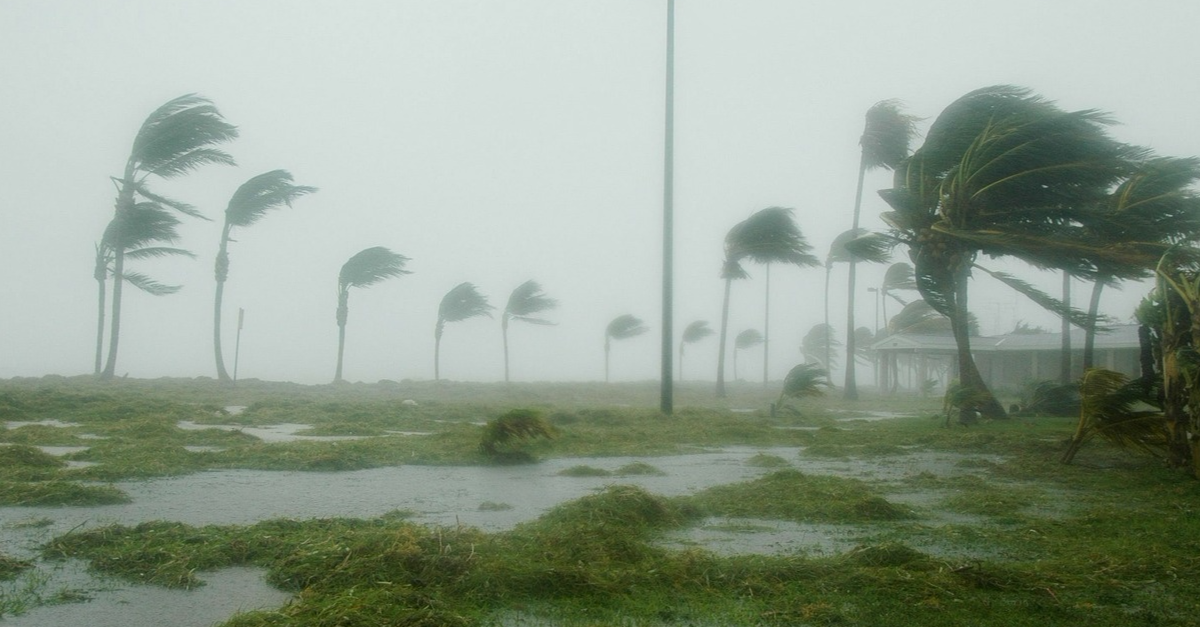 Photo of a hurricane in Key West, Florida