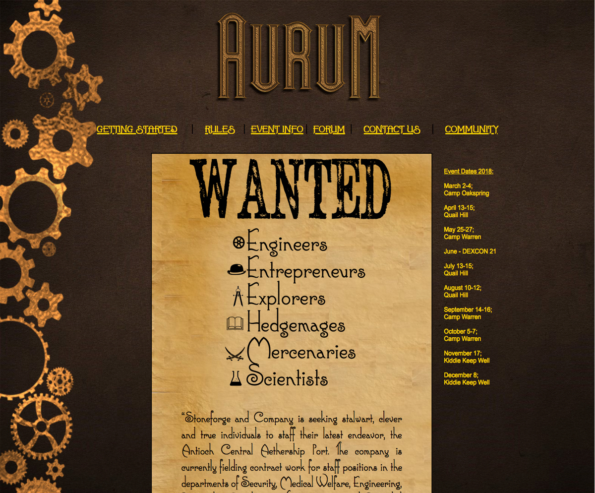 Aurum Home Page Original