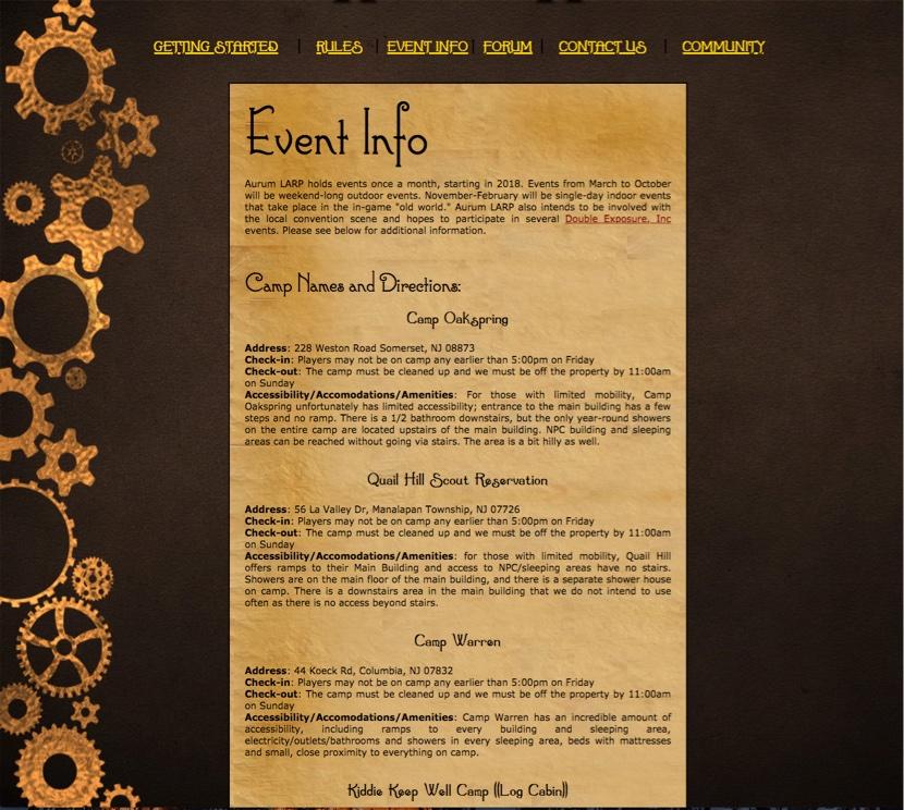 Old Aurum Info Page