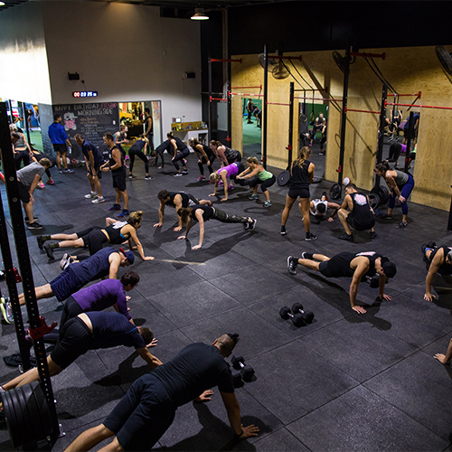 people doing floor exercises