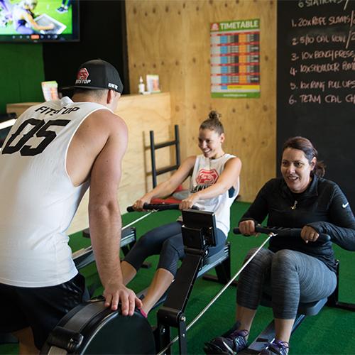 Fitstop trainer motivating members