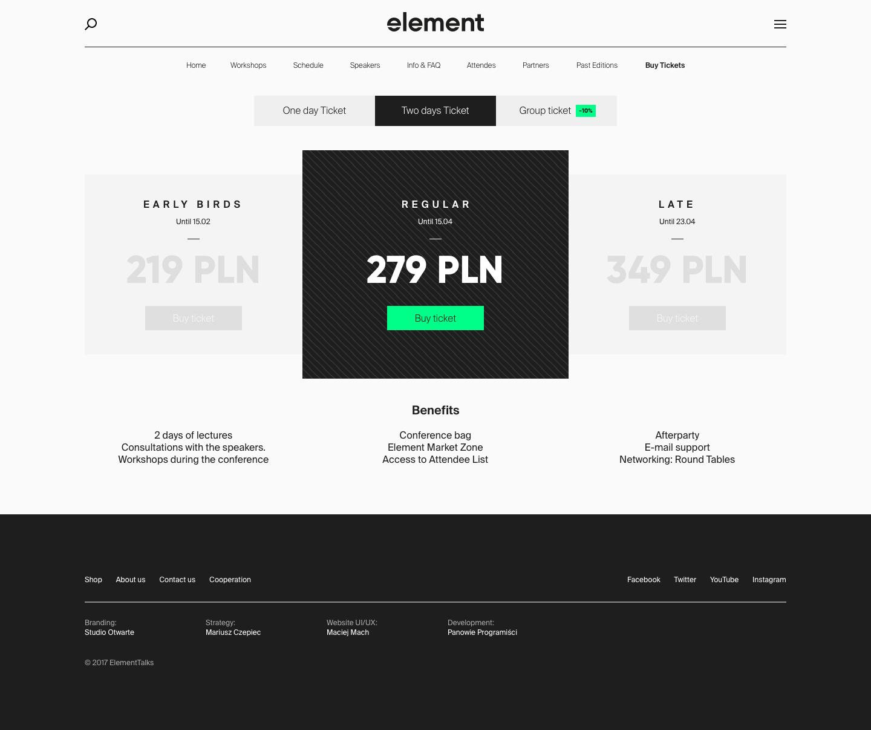 Element Talks by Maciej Mach - UI/UX designer / Poland / Poznań