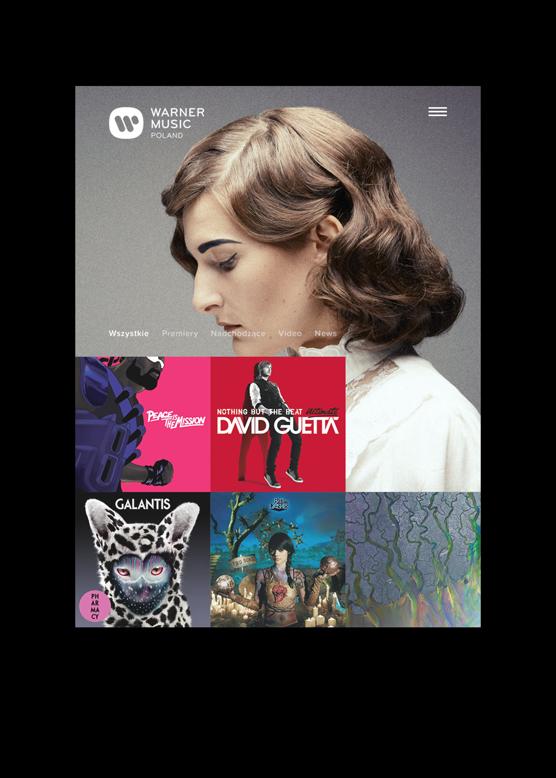 Warner Music Poland by Maciej Mach - UI/UX designer / Poland / Poznań