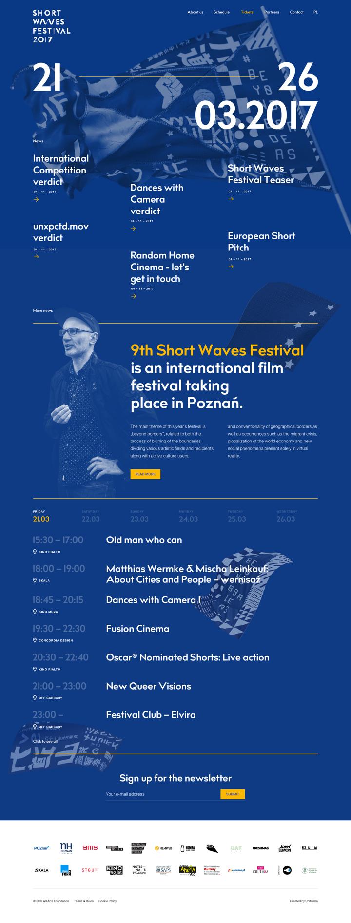 Shortwaves Festival by Maciej Mach - UI/UX designer / Poland / Poznań