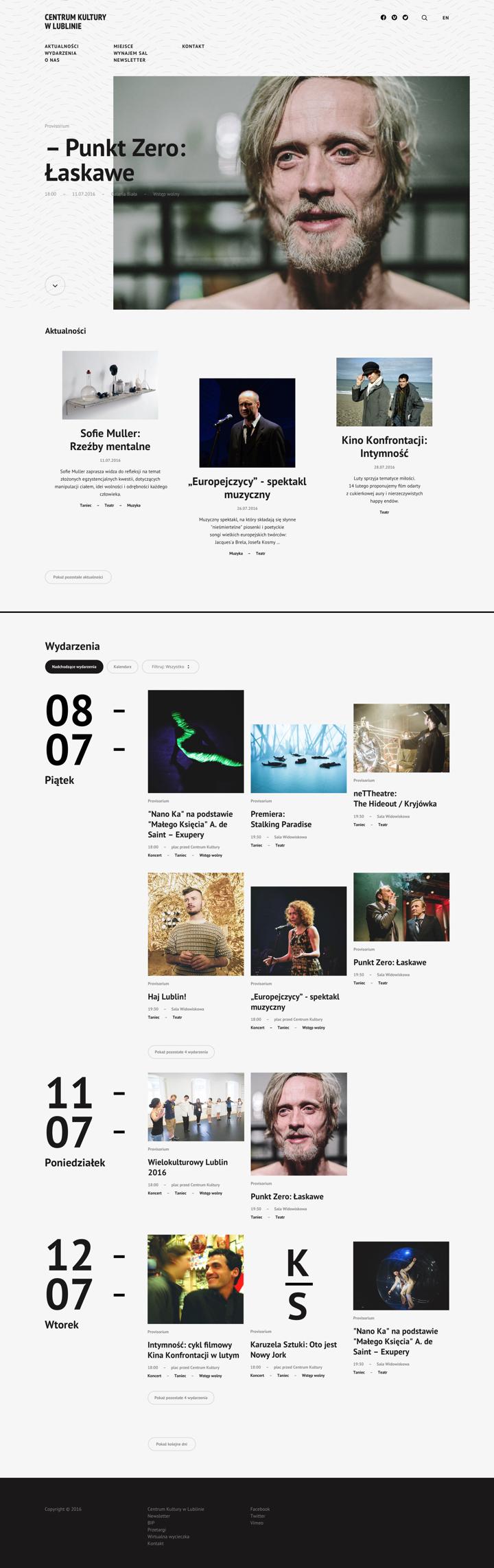 Centrum Kultury w Lublinie by Maciej Mach - UI/UX designer / Poland / Poznań