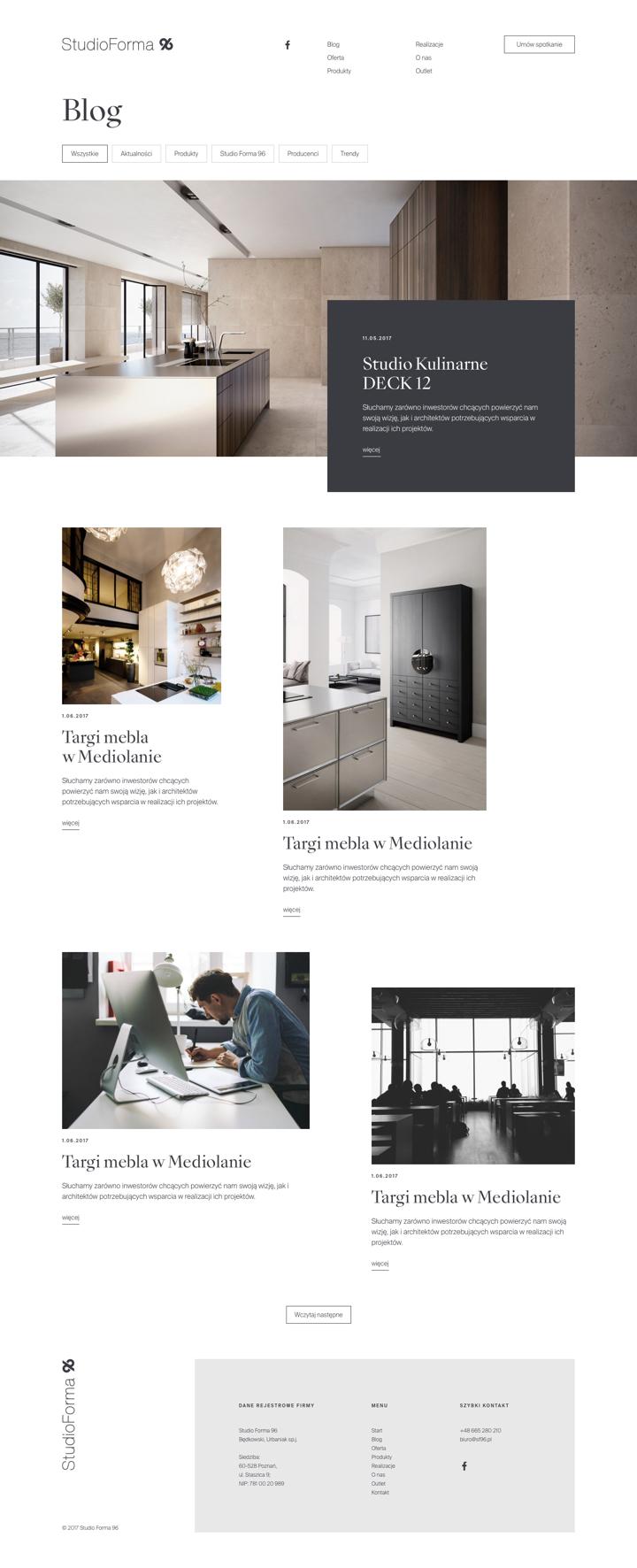 StudioForma 96 by Maciej Mach - UI/UX designer / Poland / Poznań