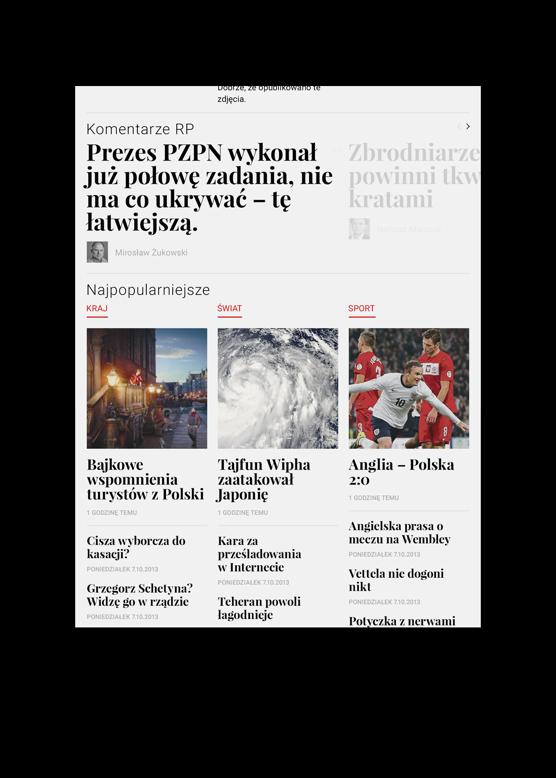 Rzeczpospolita Redesign Concept by Maciej Mach - UI/UX designer / Poland / Poznań