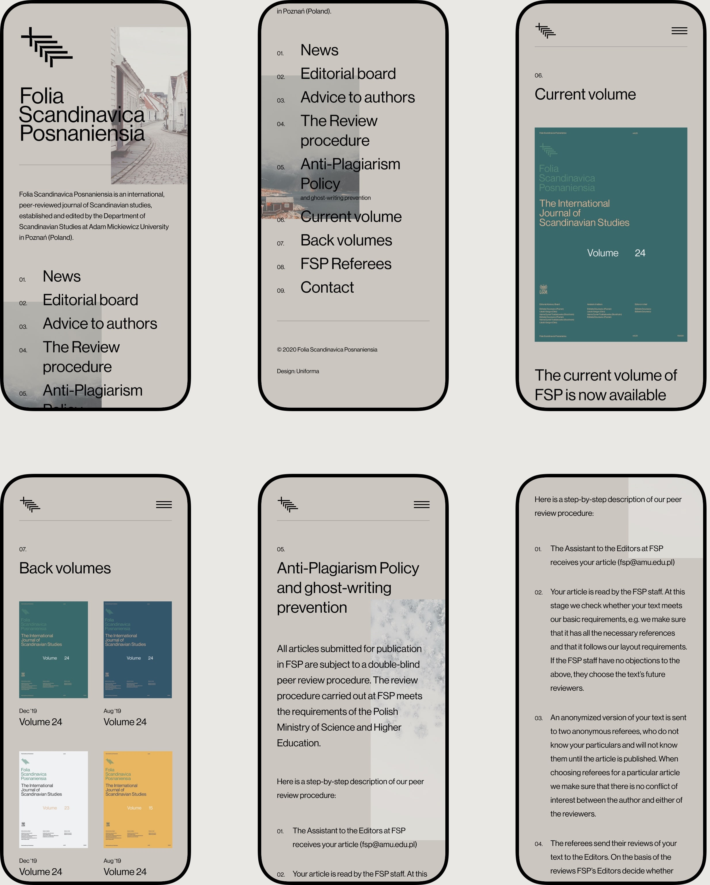 Folia Scandinavica Posnaniensia by Maciej Mach - UI/UX designer / Poland / Poznań