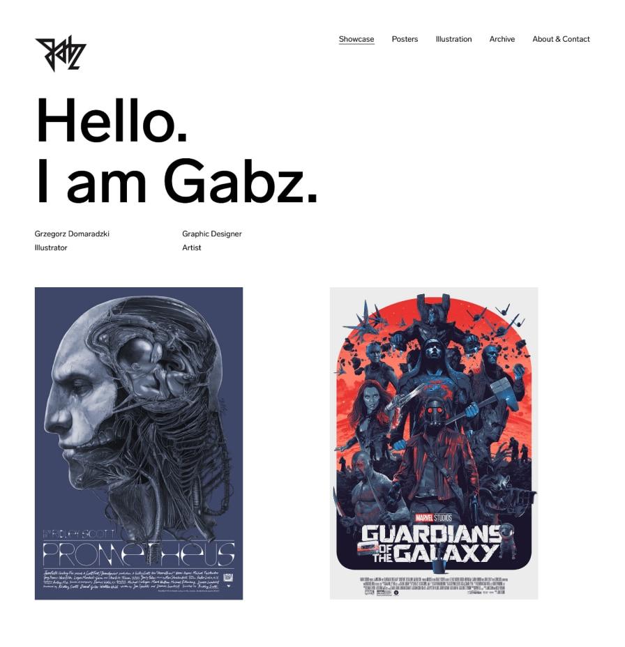 I Am Gabz by Maciej Mach - UI/UX designer / Poland / Poznań