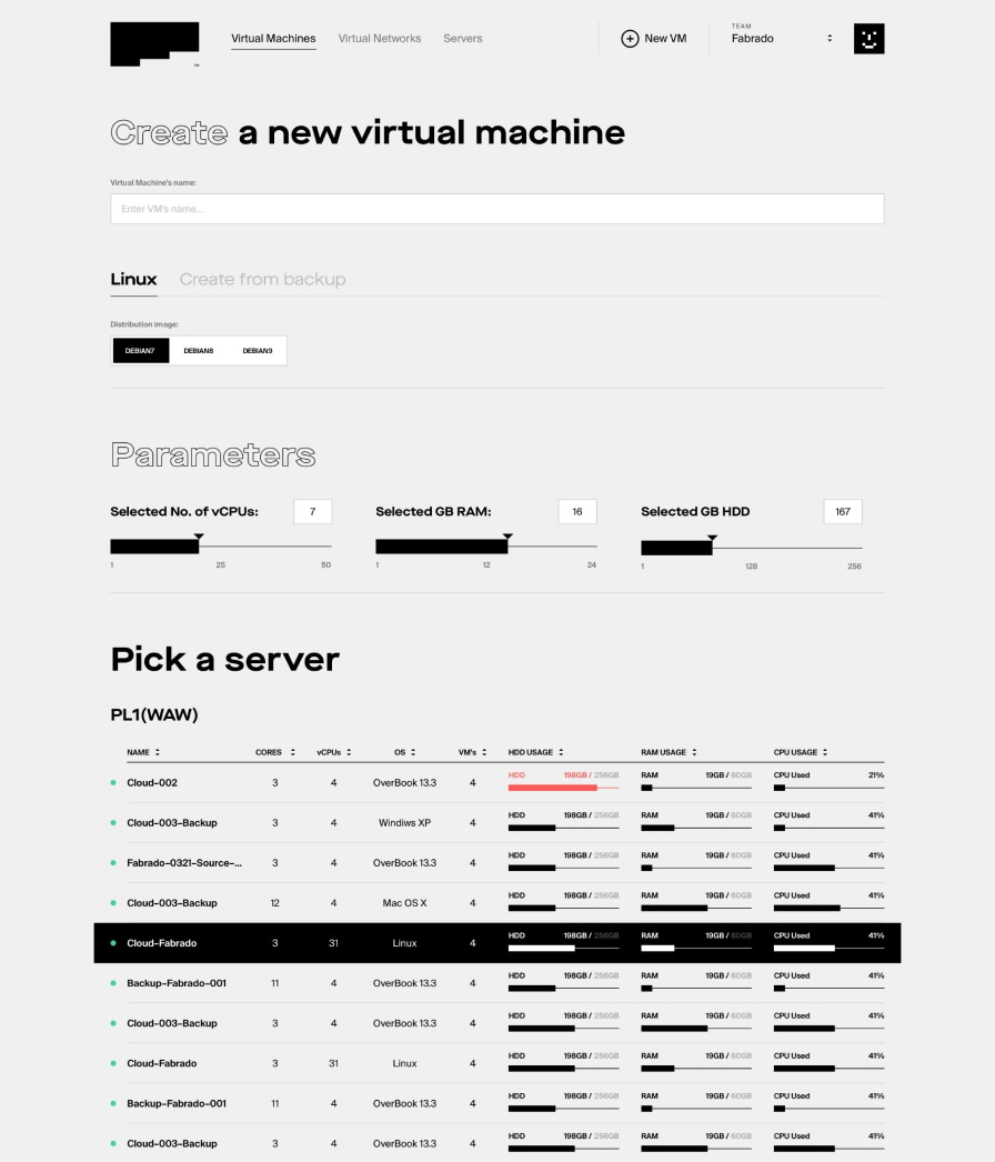 Fabrado by Maciej Mach - UI/UX design