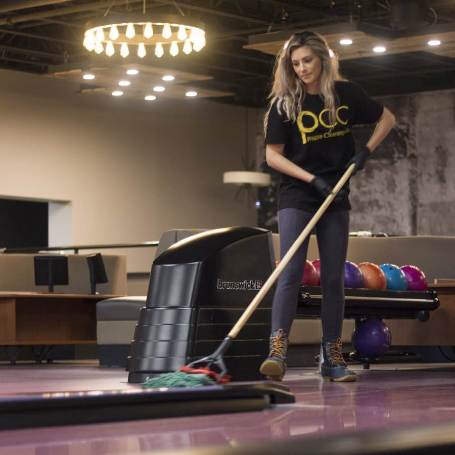 Mopping floors for a commercial client