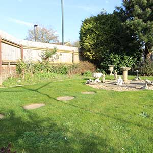 Bungalow for sale in bournemouth fenced garden with lawn