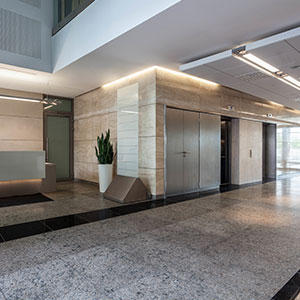 entrance lobby to a commercial building bournemouth