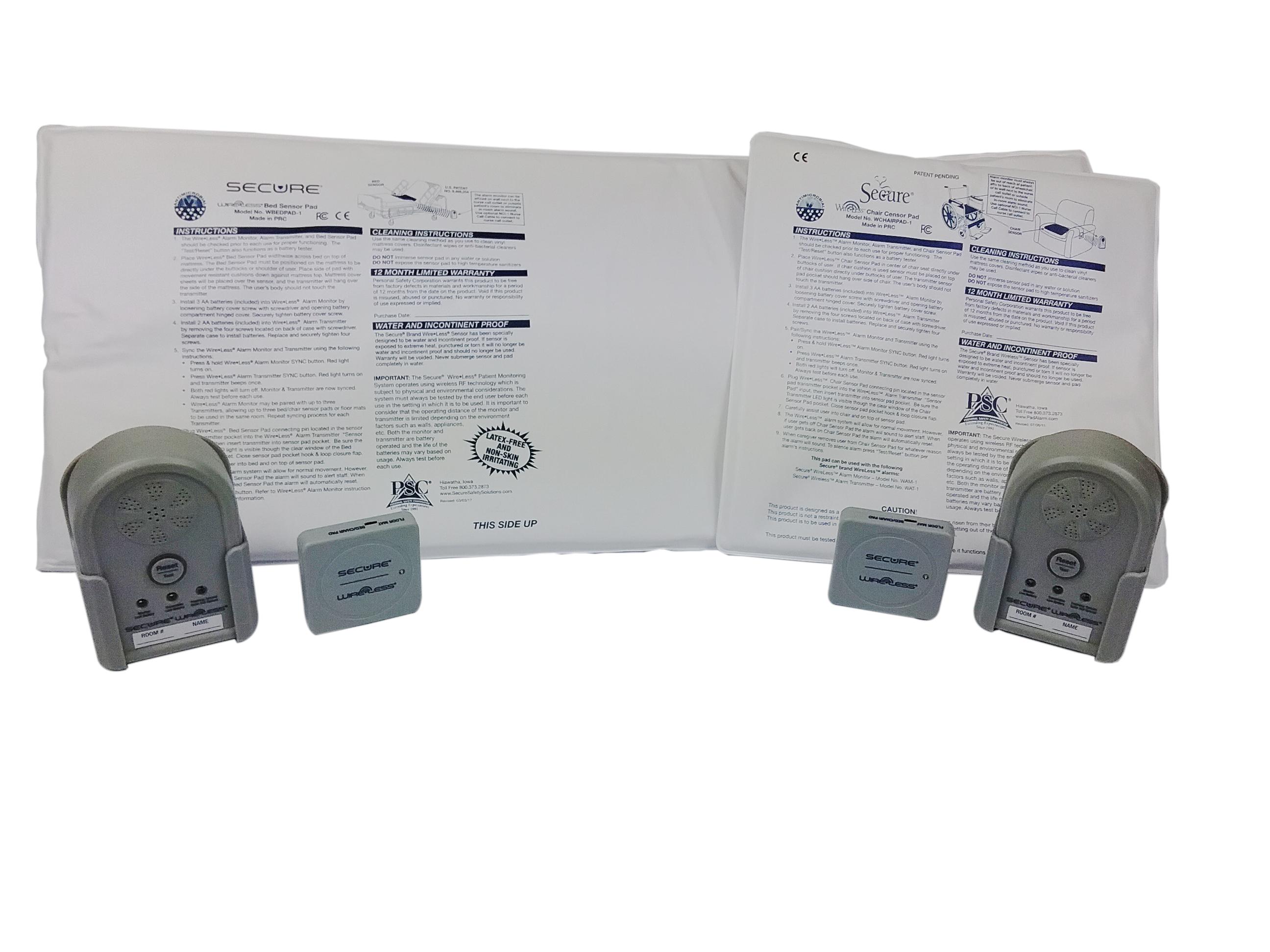 Wireless® Bed & Chair SensorPadAlarmSet