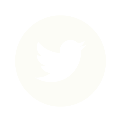 Twitter logo surrounded by a white circle.