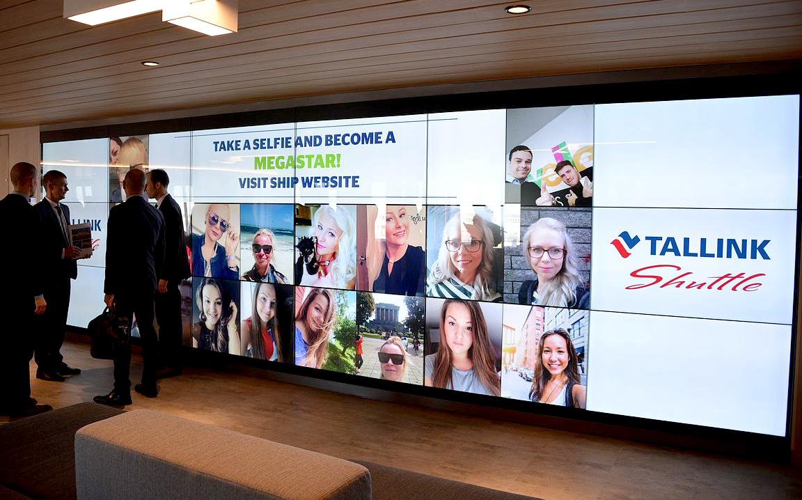 Tallink Megastar Selfie Wall