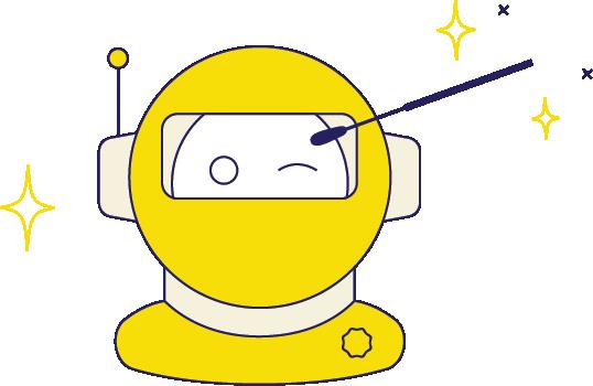 Astronaut swabbing