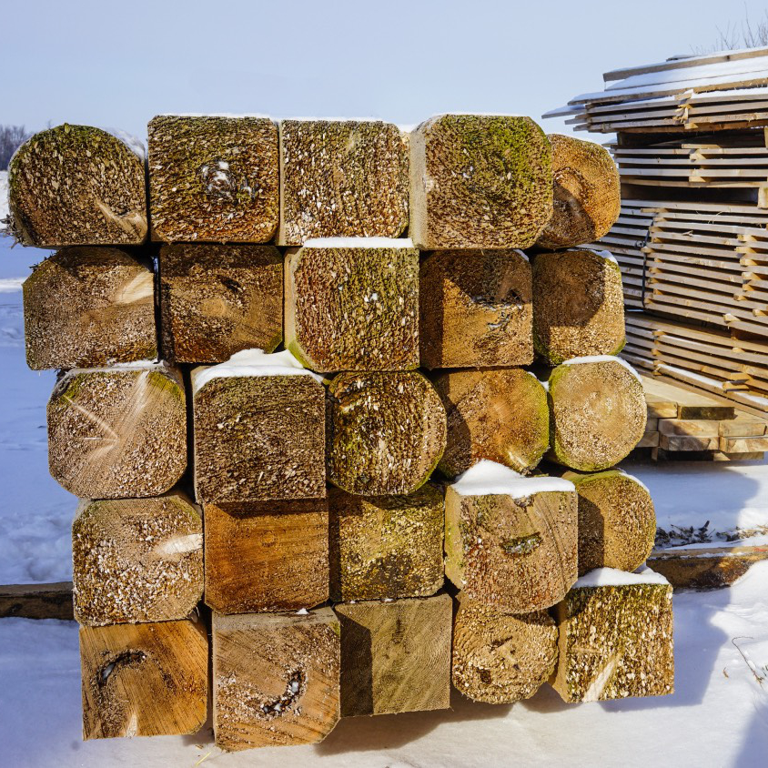 Stack of cedar logs