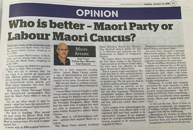 Maori party newspaper