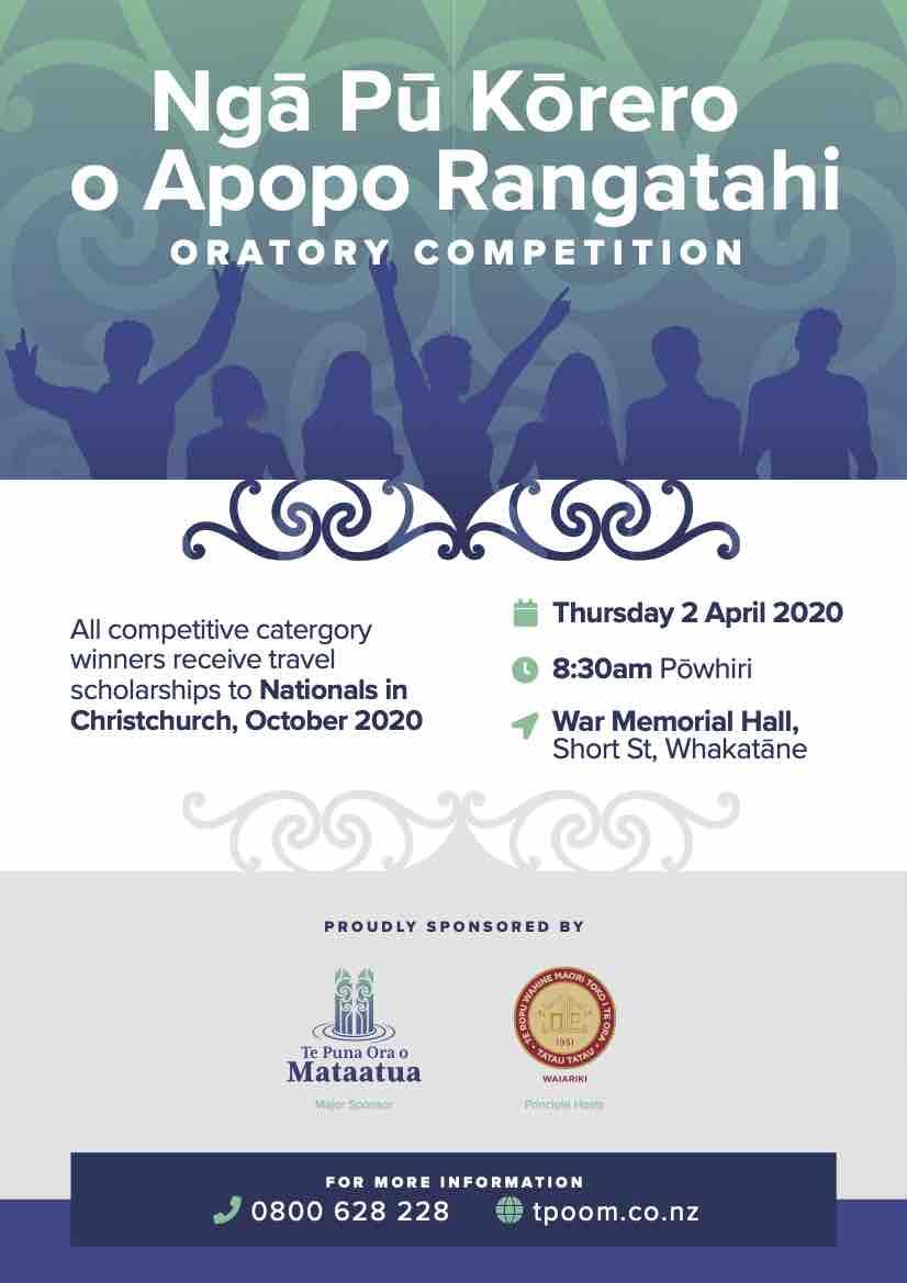 Rangatahi oratory competition