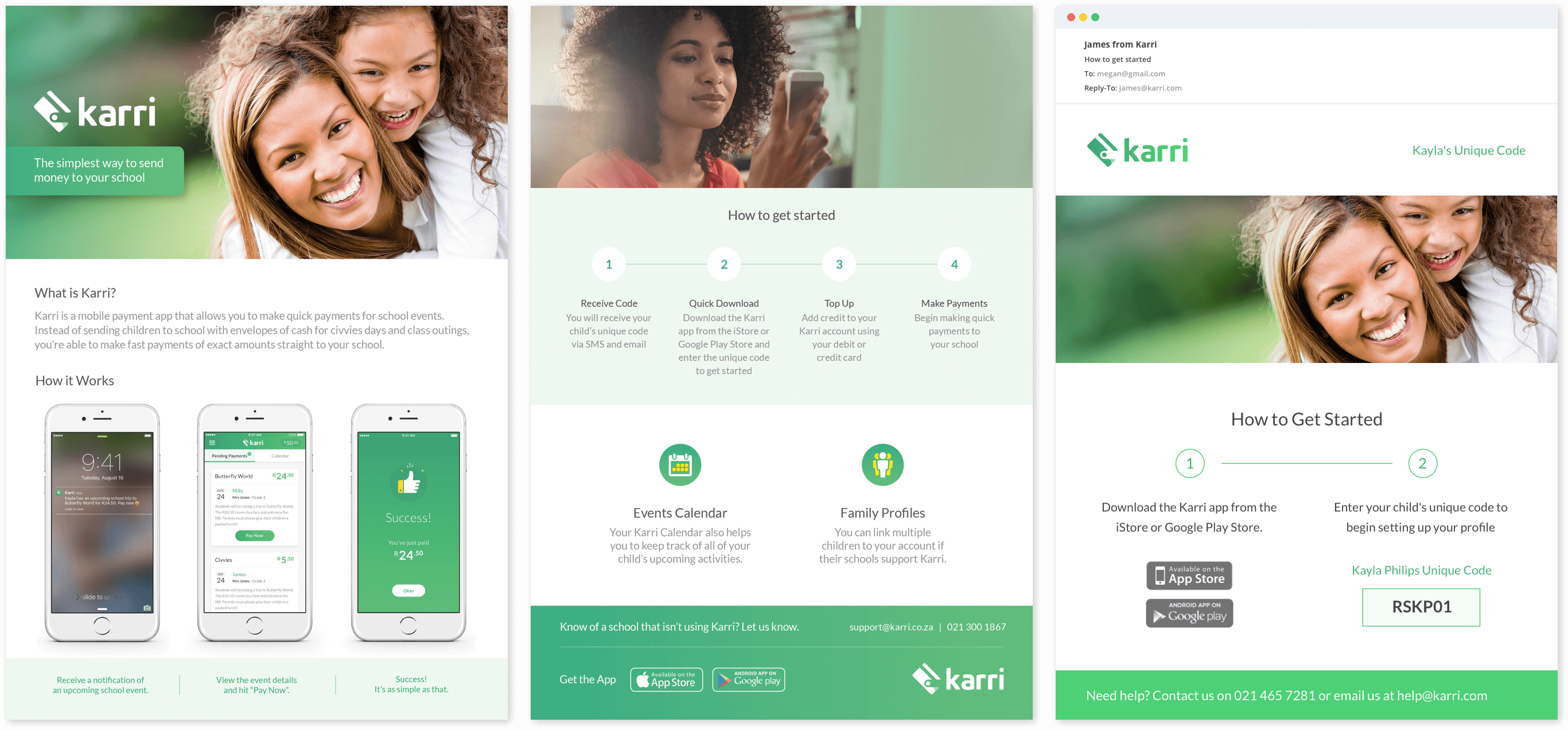 Karri Mobile App Collateral