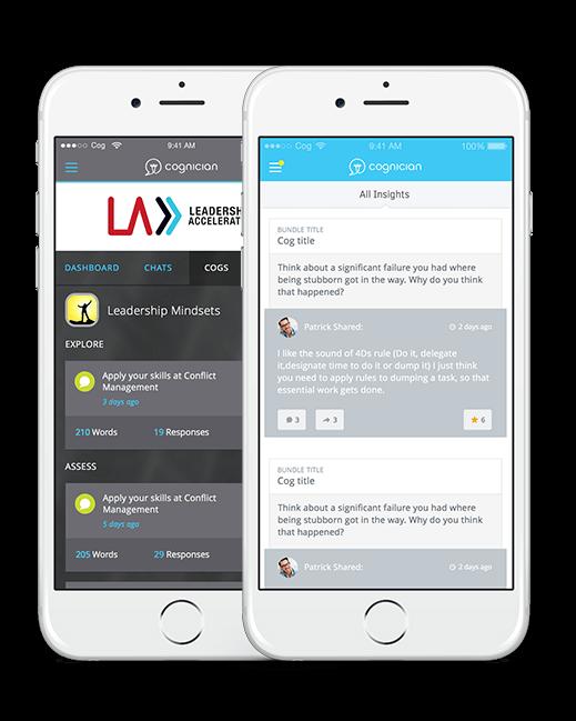Cognician Mobile Screen Designs