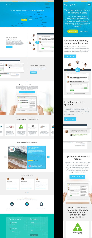 Cognician Desktop and Mobile Website Designs