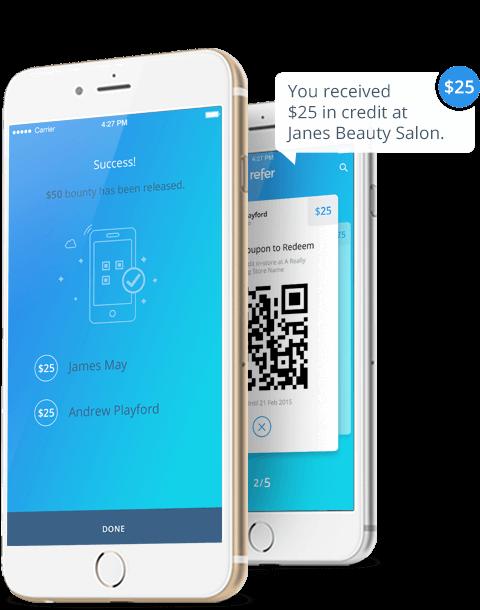 Refer Mobile App iOS Screen Designs