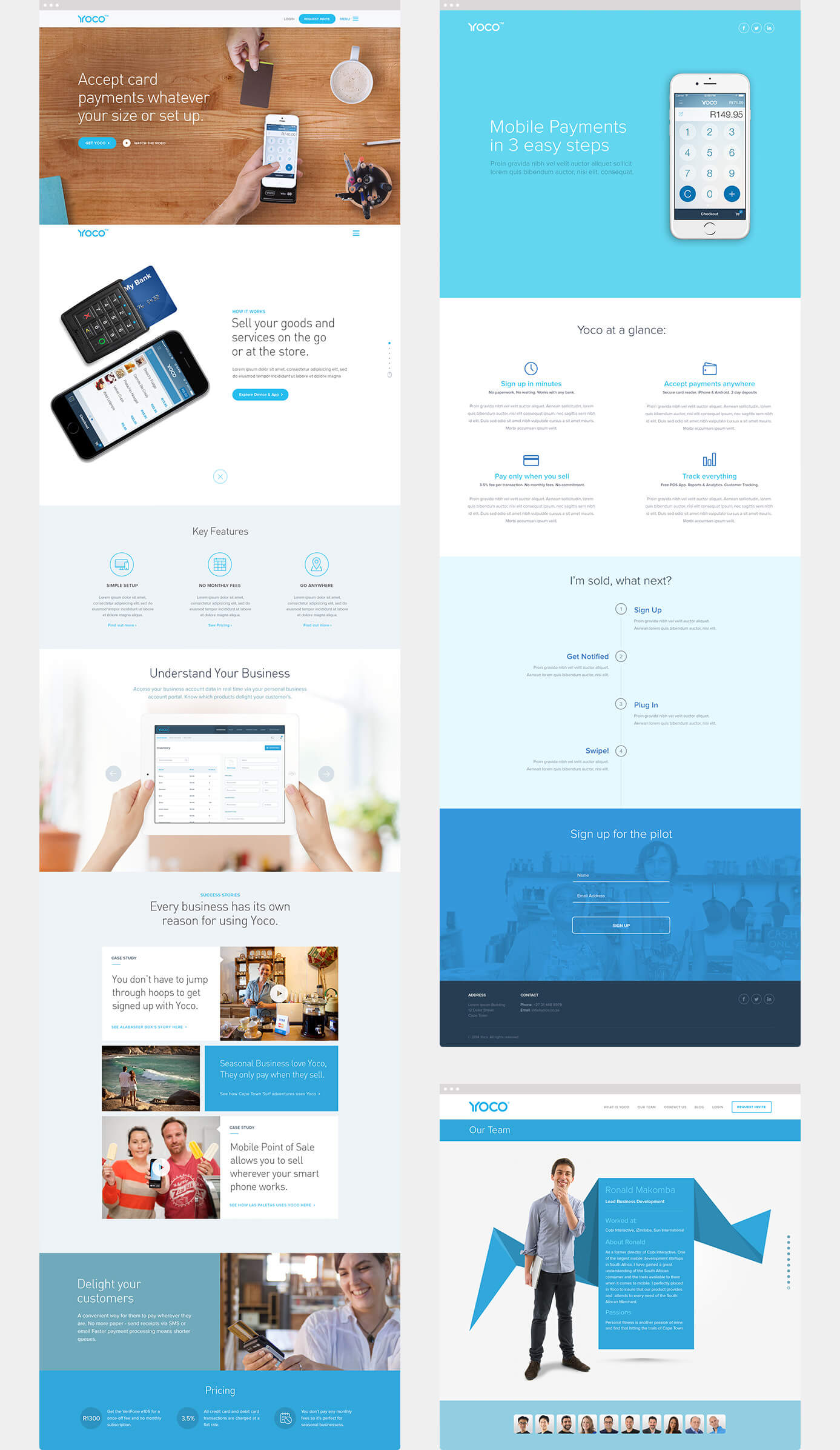 Yoco Marketing & Pilot Site Designs