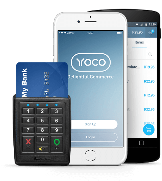 Yoco Mobile App Designs and card Reader