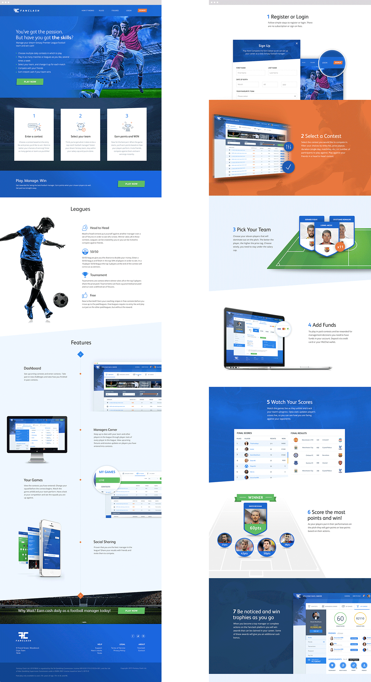Fanclash Designs For Marketing Site
