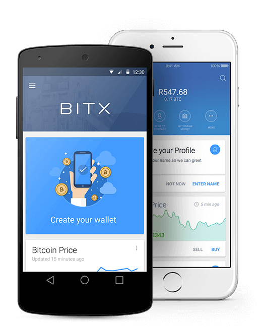 BitX Android and iOS Mobile Designs