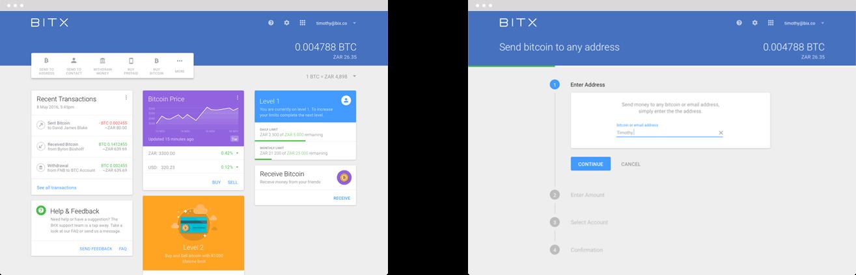 BitX Web Application Designs