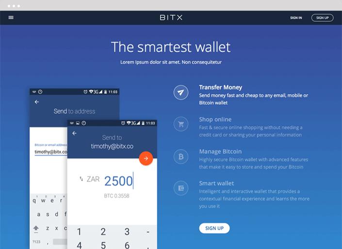 BitX Marketing Site Design