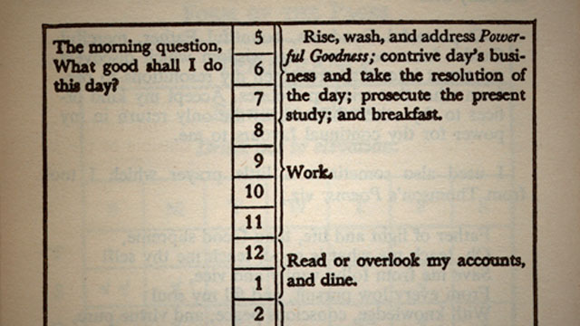 Benjamin Franklin would've created a great online course about productivity