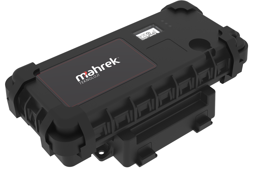 Mahrek Container Tracking device on charging station