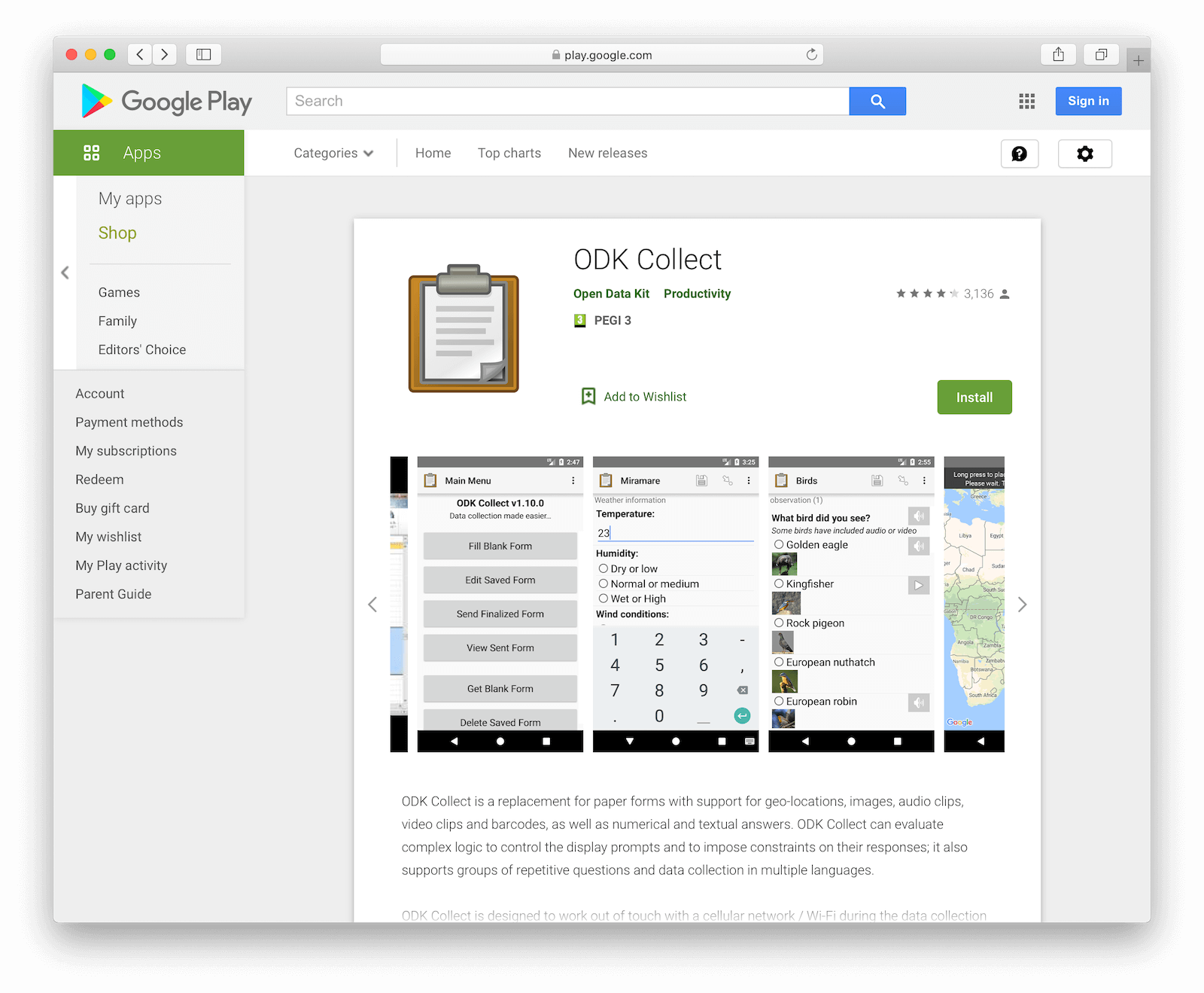 Open Data Kit on the Google Play Store