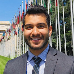 Arush Lal at the UN