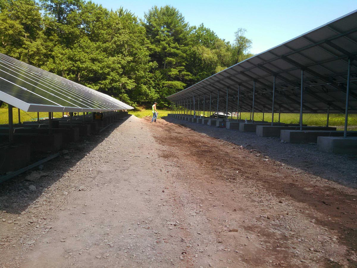 Ballasted Racking, Rocky Soils