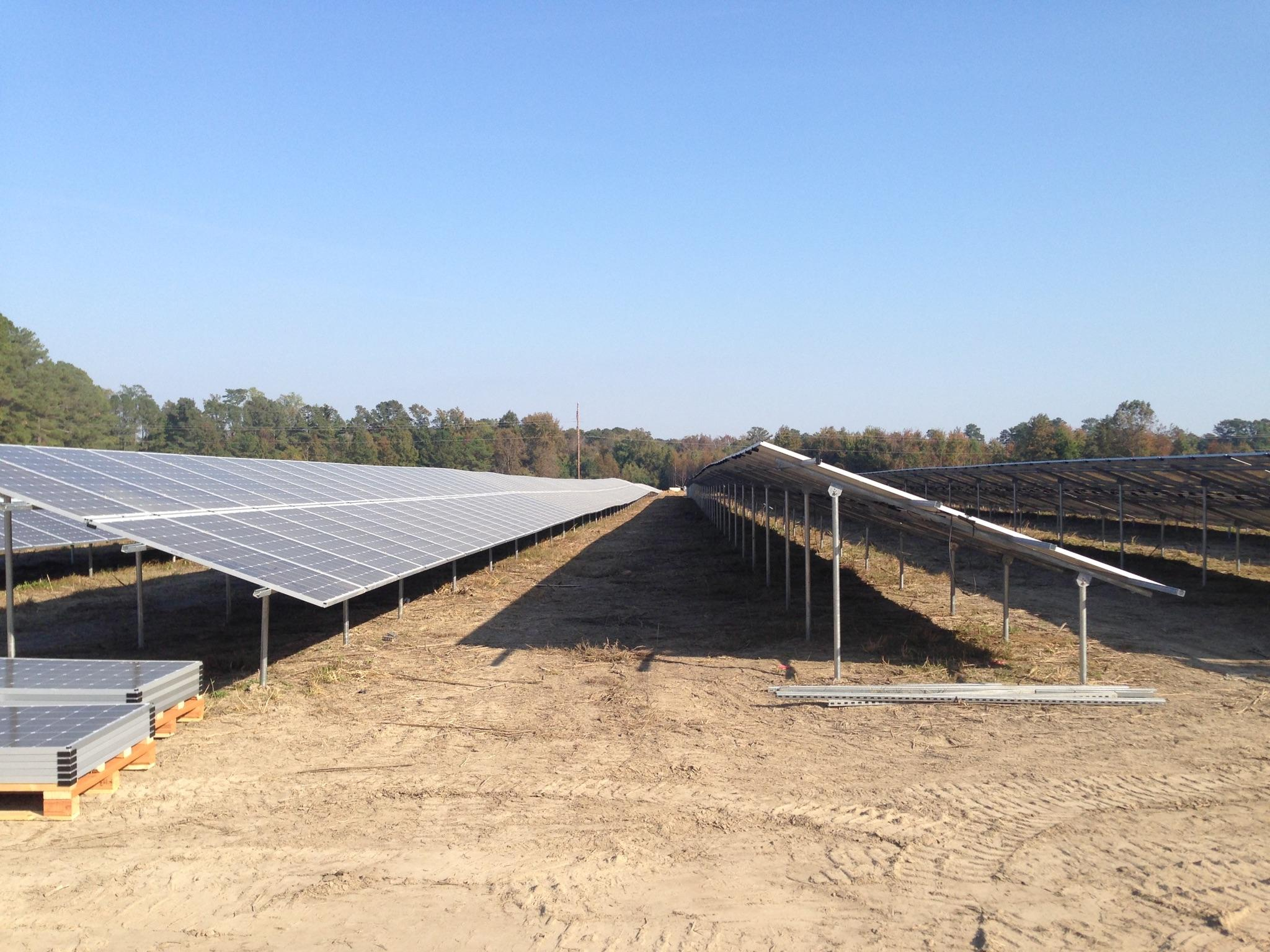 Ready Rack, Helical, Poor Soil, Solar Modules