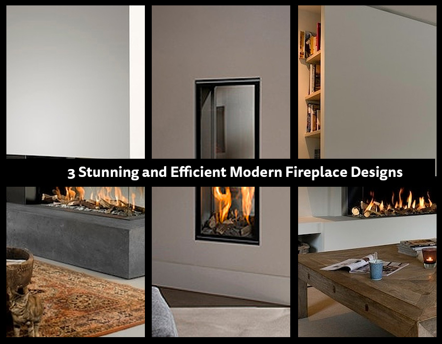 Stunning and Efficient Modern Fireplaces