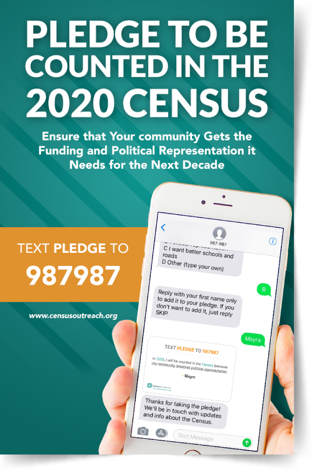 Pledge to be counted in the 2020 Census flyer