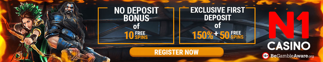 N1 is one of the better casinos here you get 150% up to 100 euro + 50 Free Spins
