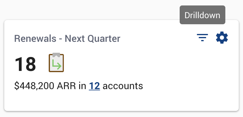 Renewals - Next Quarter data tile
